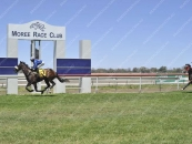 Bullet Lad wins easily by 4 lengths & with all legs in the air at Moree