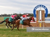Places a great 2nd at Donald last start over 1200m Pink & White Colours